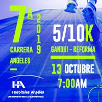 7a Carrera Hospitales Ángeles 5k y 10k 2019